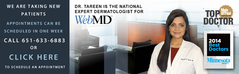 Tareen Dermatology Minneapolis Dermatologist Banner